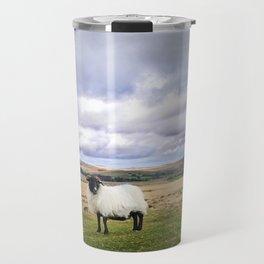 English Countryside Landscape and Sheep Travel Mug