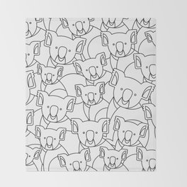 Minimalist Koala Throw Blanket