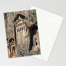 Lycian Tombs Cut From Rock Circa 400 BC Stationery Cards