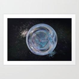 Fragile Planet Climate Change Art Print