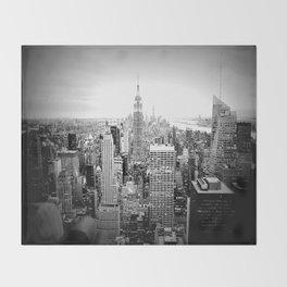 New York City Black & White Throw Blanket