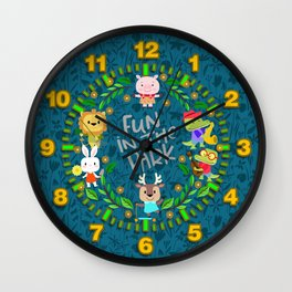 fun in the park Wall Clock