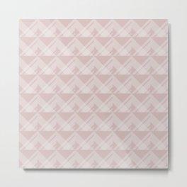 Modern Simple Geometric 5 in Shell Pink Metal Print