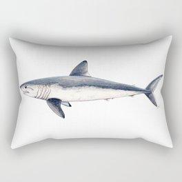 Porbeagle shark (Lamna nasus) Rectangular Pillow