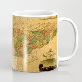 Map Of Tennessee 1832 Coffee Mug