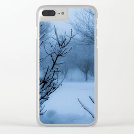 Foggy Winter Solstice Clear iPhone Case