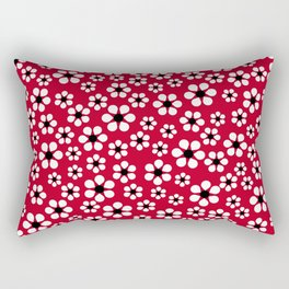 Dizzy Daisies - Red 2 - more colors Rectangular Pillow