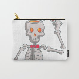 Funny skeleton with bowtie. Carry-All Pouch