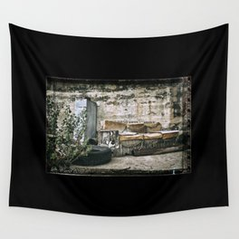 Vintage Trash Wall Tapestry