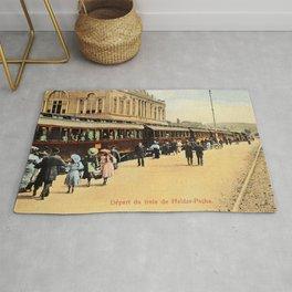 1900s Haydarpasa railroad station, train Rug