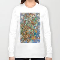 batik Long Sleeve T-shirts featuring Batik Wayang by tanduksapi