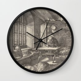 Albrecht Durer Saint Jerome in His Study 1514 Wall Clock