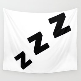 Zzzs in Black Wall Tapestry