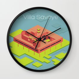 Villa Savoye and Le Corbusier Wall Clock