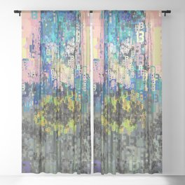 Superhero Type Art Comics Bat Sheer Curtain