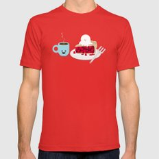 Coffee and Pie LARGE Mens Fitted Tee Red