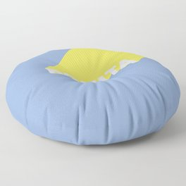 BONITA Blue Floor Pillow