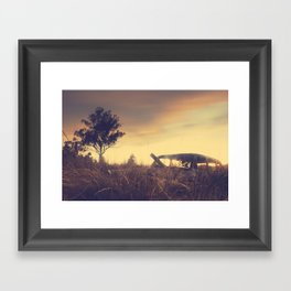 Sunsets and Forgotten Cars Framed Art Print