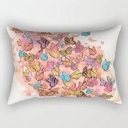 catching butterflies Rectangular Pillow