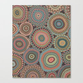 Boho Patchwork-Vintage colors Canvas Print