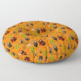 Halloween Party Pattern (October 31) Floor Pillow