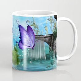 Mystic Whimsey Butterfly Pond Fantasy Coffee Mug