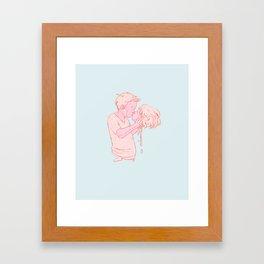 Kissy Face Framed Art Print