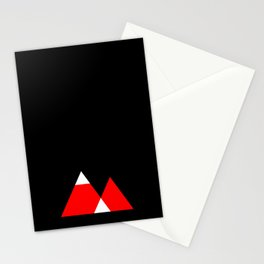 Mountain Triangle Snow Nerd Hipster Stationery Cards
