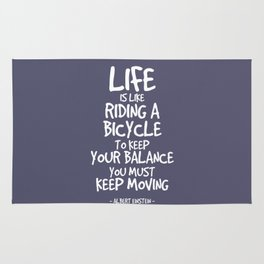 Riding a Bicycle Quote - Albert Einstein Rug