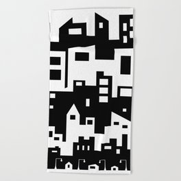 Stacked Cityscape Beach Towel