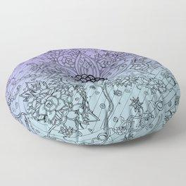Flower Zen: Purple Fade Floor Pillow
