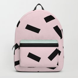 Funky eighties fresh colors graphic memphis design Backpack