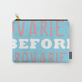 PARKS AND RECREATION OVARIES BEFORE BROVARIES LESLIE KNOPE QUOTE Carry-All Pouch