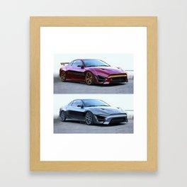 Mitsubishi Eclipse Artrace custom. Framed Art Print