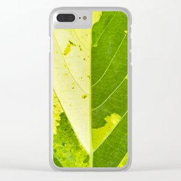 Leaf with abstract patterns 1 Clear iPhone Case