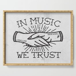 In Music We Trust Serving Tray