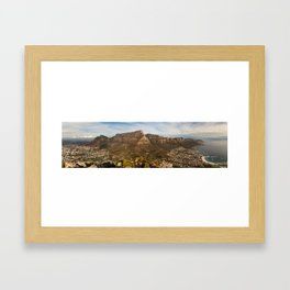 Table Mountain from Lion's Head, Cape Town, South Africa Framed Art Print