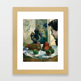 Still Life with Profile of Laval by Paul Gauguin Framed Art Print