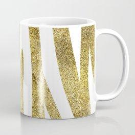 Golden exotics - Zebra and crisp white Coffee Mug