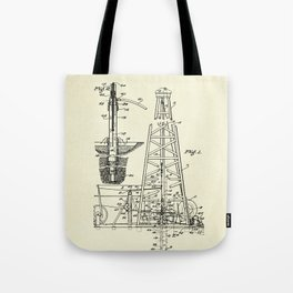 Combination Standard and Hydraulic Drilling Rig-1911 Tote Bag