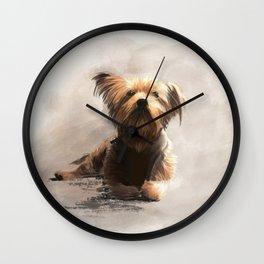 Yorkshire Terrier Illustration Wall Clock