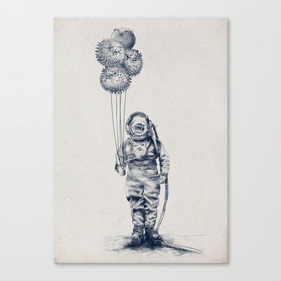 Balloon Fish - monochrome option Canvas Print