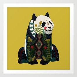 panda ochre Art Print