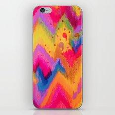 BOLD QUOTATION - Bright Vibrant Neon Quote Chevron Pattern Ikat Rainbow Trendy Design Fun Art iPhone & iPod Skin