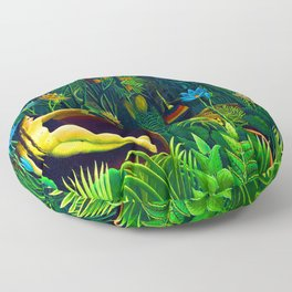 Henri Rousseau The Dream Floor Pillow