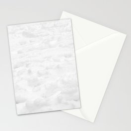 Snow Field // Winter Snow Landscape Photo Close Up Black and White Texture Snowflake Vibes Stationery Cards