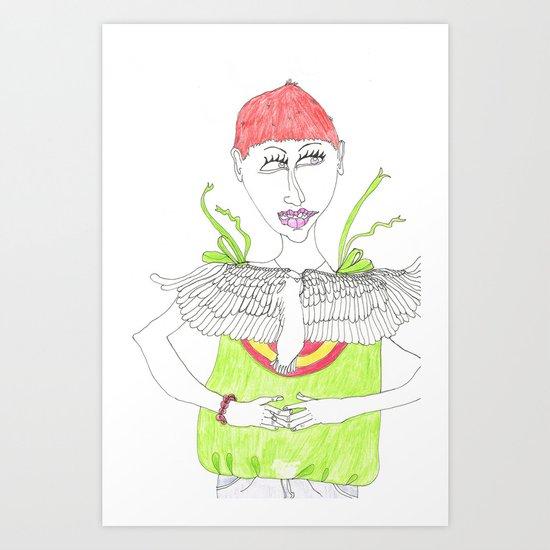 Short cut Art Print