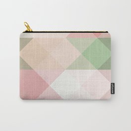 Modern blush tones pink abstract geometrical triangles Carry-All Pouch