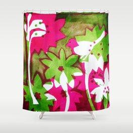 Watermelon Pink Shower Curtain