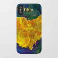ohio iPhone & iPod Cases featuring Ohio Map by Roger Wedegis